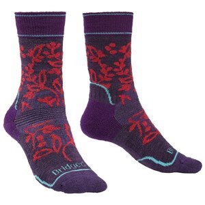 Dámské ponožky Bridgedale Hike MW MP Boot Women's Velikost ponožek: 44-47 / Barva: fialová