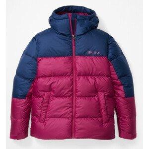 Dámská bunda Marmot Guides Down Hoody Velikost: S / Barva: růžová/modrá