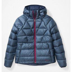 Dámská bunda Marmot Hype Down Hoody Velikost: S / Barva: modrá