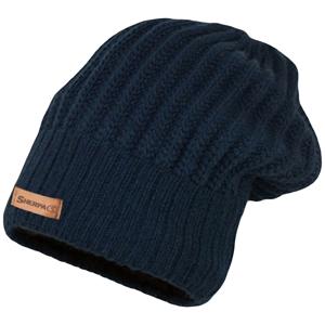 Zimní čepice Sherpa Beanie Mono Barva: tmavě modrá