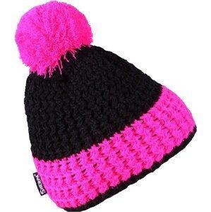 Dětská zimní čepice Sherpa Magic Kids Dětská velikost: 3-6 let / Barva: růžová/černá