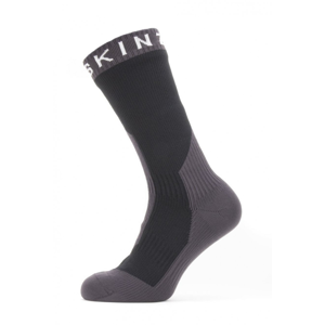 Nepromokavé ponožky Sealskinz Waterproof Extreme Cold Weather Mid Velikost ponožek: 39-42 / Barva: černá/šedá