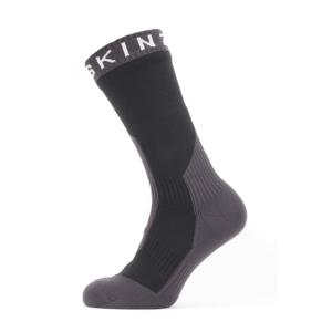 Nepromokavé ponožky Sealskinz Waterproof Extreme Cold Weather Mid Velikost ponožek: 43-46 / Barva: černá/šedá