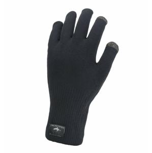 Nepromokavé rukavice Sealskinz WP All Weather Ultra Grip Knitted Velikost rukavic: L / Barva: černá