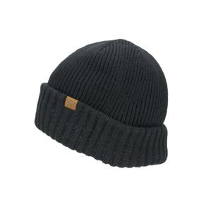 Nepromokavá čepice Sealskinz WP Cold Weather Roll Cuff Velikost: L/XL / Barva: černá