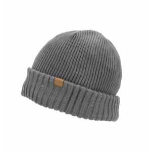 Nepromokavá čepice Sealskinz WP Cold Weather Roll Cuff Velikost: L/XL / Barva: šedá