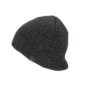 Nepromokavá čepice Sealskinz WP Cold Weather Reflective Velikost: L/XL / Barva: černá
