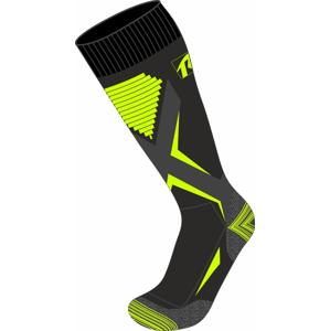 Dětské lyžařské ponožky Relax Thunder Velikost ponožek: 35-38 / Barva: černá/žlutá