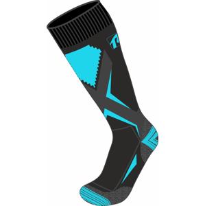 Dětské lyžařské ponožky Relax Thunder Velikost ponožek: 35-38 / Barva: černá/tyrkysová