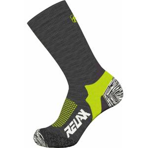 Ponožky Relax Nordic Velikost ponožek: 35-38 / Barva: černá/žlutá