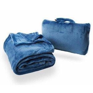 Cestovní deka Cabeau Fold 'n Go Blanket Barva: modrá