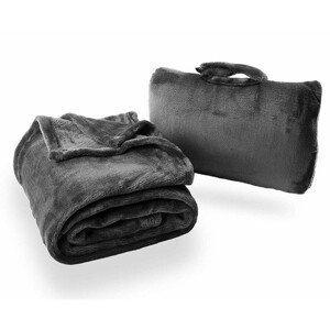 Cestovní deka Cabeau Fold 'n Go Blanket Barva: černá