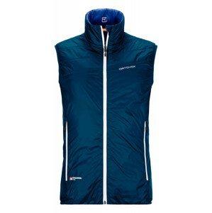 Pánská vesta Ortovox Swisswool Piz Cartas Vest M Velikost: XL / Barva: tmavě modrá