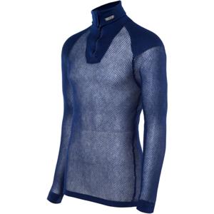 Brynje of Norway Pánský funkční rolák Brynje Super Thermo Zip polo Shirt w/inlay Velikost: M / Barva: tmavě modrá