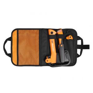 Kempingová sada Fiskars sekera + nůž + pilka Barva: černá/oranžová