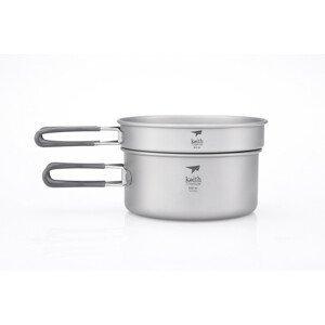 Sada nádobí Keith Titanium Titanium Pot and Pan Cook Set Barva: šedá