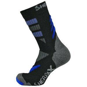 Ponožky Sherpax Kungur VL Velikost ponožek: 39-42 / Barva: černá