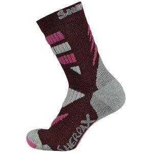 Ponožky Sherpax Kungur VL Velikost ponožek: 39-42 / Barva: černá/červená