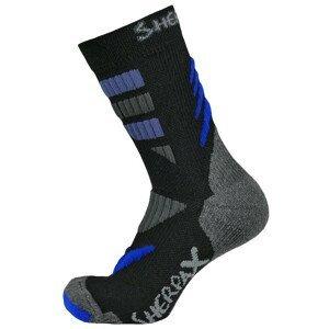 Ponožky Sherpax Kungur VL Velikost ponožek: 35-38 / Barva: černá