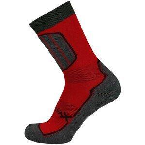 Ponožky Sherpax Pyramid Velikost ponožek: 43-47 / Barva: červená
