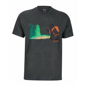 Pánské triko Marmot Trek Tee SS Velikost: L / Barva: šedá