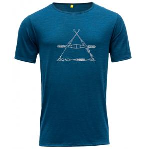 Pánské triko Devold Vasset Man Tee Velikost: M / Barva: zelená