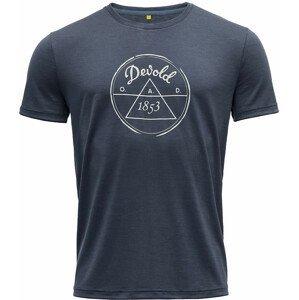 Pánské triko Devold 1853 Man Tee Velikost: L / Barva: modrá