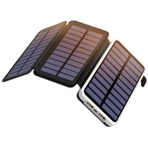 Solární nabíječka a powerbanka Outxe EP300 - 10000mAh Barva: černá/bílá