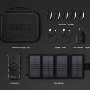 Set solární nabíječky a powerbanky Outxe W20 Outdoor Charger Kit Barva: černá