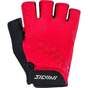Pánské cyklo rukavice Silvini Orso MA1639 Velikost rukavic: M / Barva: červená