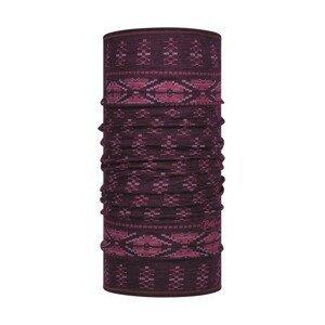 Šátek Buff Lightweight Merino Wool Barva: fialová
