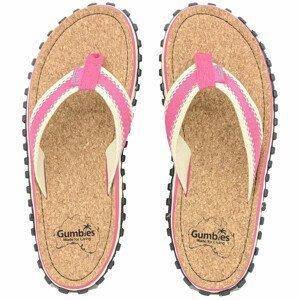 Žabky Gumbies Corker Natural Cork - Pink Velikost bot (EU): 42 / Barva: růžová
