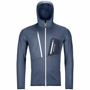 Pánská mikina Ortovox Fleece Grid Hoody M Velikost: M / Barva: tmavě modrá