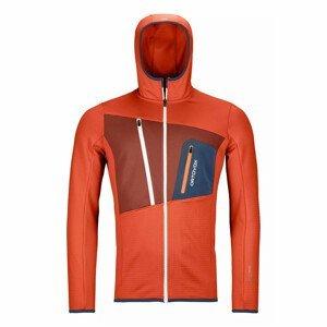 Pánská mikina Ortovox Fleece Grid Hoody M Velikost: M / Barva: oranžová