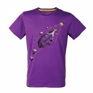 Pánské triko Singing Rock Rocket Velikost: S / Barva: fialová