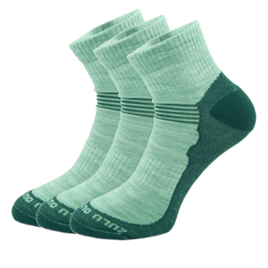 Ponožky Zulu Merino Lite Man 3 pack Velikost ponožek: 43-47 / Barva: černá