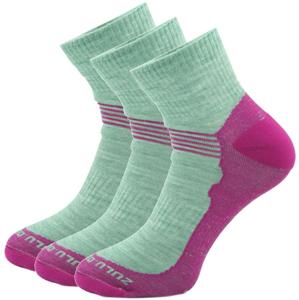 Ponožky Zulu Merino Lite Women 3 pack Velikost ponožek: 39-42 / Barva: růžová