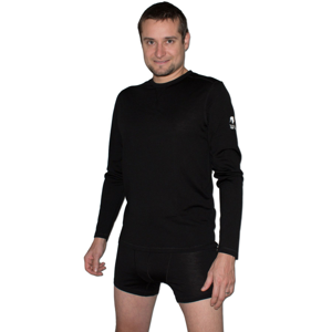 Pánské triko Zulu Merino 160 dlouhý rukáv Velikost: XL / Barva: černá