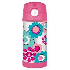 Dětská termoska Thermos Funtainer - květy Barva: růžová