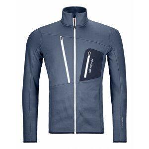 Pánská mikina Ortovox Fleece Grid Jacket Velikost: S / Barva: oranžová