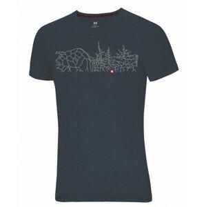 Pánské triko Ocún Raglan T Velikost: L / Barva: šedá
