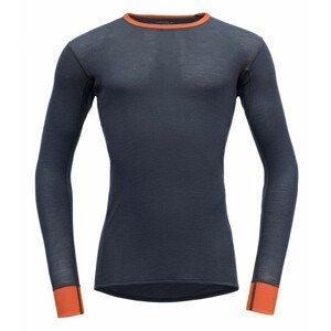 Pánské triko Devold Wool Mesh Man Shirt Velikost: XL / Barva: šedá/oranžová