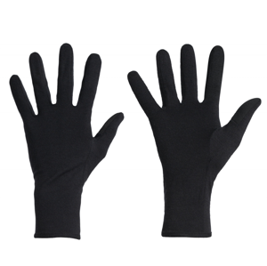 Rukavice Icebreaker U 260 Tech Glove Liners Velikost rukavic: S / Barva: černá