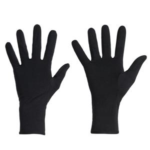 Rukavice Icebreaker U 260 Tech Glove Liners Velikost rukavic: M / Barva: černá