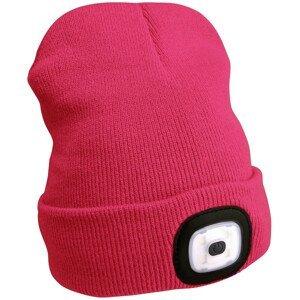 Čepice s čelovkou Extol Light Barva: růžová