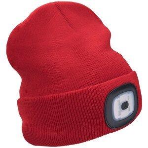 Čepice s čelovkou Extol Light Barva: červená