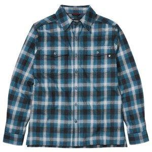 Pánská košile Marmot Movatn Heavywt Flannel LS Velikost: L / Barva: modrá