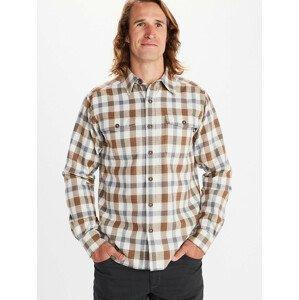 Pánská košile Marmot Movatn Heavywt Flannel LS Velikost: XL / Barva: modrá