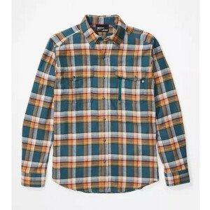 Pánská košile Marmot Tromso Midweight Flannel LS Velikost: M / Barva: modrá
