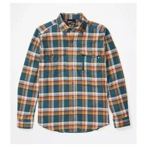 Pánská košile Marmot Tromso Midweight Flannel LS Velikost: L / Barva: modrá